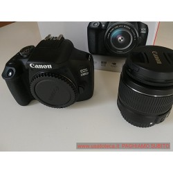 MAI USATA !! CANON EOS 2000D con OBIETTIVO EF-S 18-55 IS II