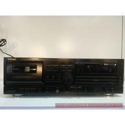 Teac AD-600 piastra a cassette + triplo lettore cd con telecomando