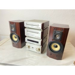TECHNICS se-hd560 MINI Hi Fi System-Amp, sintonizzatori, CD, Tape & Speakers read DESC