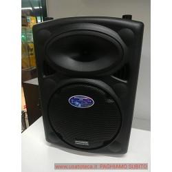 DYNASONIC Dynapro - Sistema Audio da 10 pollici Professionale, con microfono senza filo e con filo Portatile (lettore USB/SD, Bl