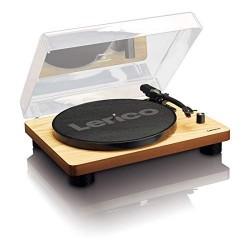 Lenco LS-50 Wood Giradischi in Legno  con altoparlanti stereo incorporati