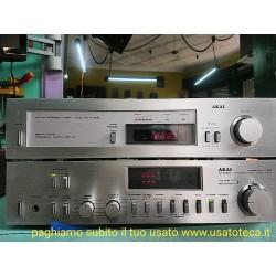 AMPLIFICATORE AKAI AM-U55 E SINTONIZZATORE RADIO TUNER AKAI AT-K33L