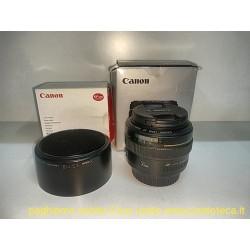 OBIETTIVO CANON 50 mm USM  F 1:1,4 CON PARALUCE ORIGINALE
